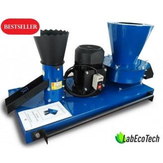 Granulator GKM-100 + (rozdrabniacz do słomy / siana + granulator  paszy) / 1.5 kW, 220-380W